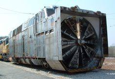 Union Pacific train snow plow