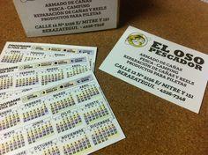 Recién salidos del horno los calendarios que diseñamos e imprimimos para El Oso Pescador