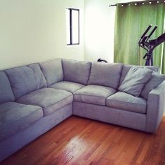 blue sectional sofa   Blue-Grey Sectional Sofa, Down Wrapped Cushions in Mt Washington, Los ...