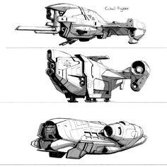 ArtStation - Destiny: Cabal Spacecraft iteration, Isaac Hannaford