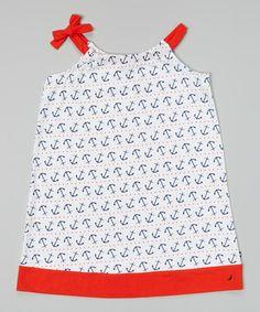 Loving this White Anchor Halter Dress - Toddler & Girls on #zulily! #zulilyfinds