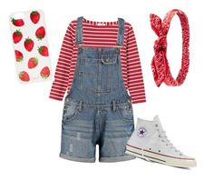 Strawberry Pickin' by corwest on Polyvore featuring polyvore, fashion, style, Toast, Converse, Sonix, Charlotte Russe and clothing