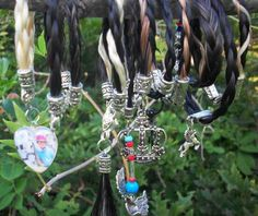 Horse jewelry made with horse hair