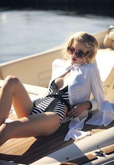 Black and White / nautical glamour