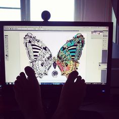 https://www.facebook.com/Juliagrad79  #butterfly #tatoo #style #draw #ink #pen #nature #feet #handmade #draw