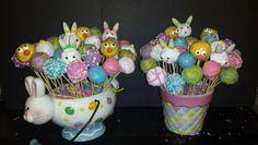Easter planters cake pops