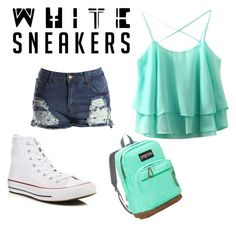 """""""Untitled #41"""" by bubblebuttkeb ❤ liked on Polyvore featuring Converse and JanSport"""