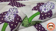 Blog OFICIAL Menina Nunalu: Jogo de Cozinha..... flores lilás que encantam!!!!