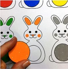 Bunny Color Match File Folder Game (from Childcareland)A file folder game for preschool and kindergarten. Works on color recognition.A site that provides educational resources for those working in the the early childhood field. Folder Games For Toddlers, File Folder Activities, File Folder Games, File Folders, Preschool Learning Activities, Color Activities, Toddler Learning, Preschool Activities, Preschool Printables