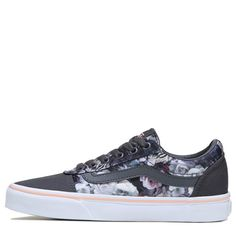 May 2020 - Vans Women's Ward Low Top Sneakers (Gray/Floral Print) Cute Vans, Cute Shoes, Me Too Shoes, Fashion Boots, Sneakers Fashion, Fashion Edgy, Fashion Top, Girl Fashion, White Old School Vans