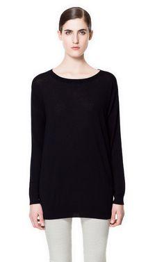 SILK AND COTTON SWEATER - Knitwear - Woman - ZARA United States