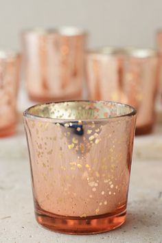 8.00 SALE PRICE! . Illuminate your special events with these gorgeous Rose Gold Mercury Glass Candle Holders. The rose colored candle holders will bring a wa...