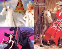 Fashion Doll Fantasy Barbie Doll Clothing and Accessories Craft Book  A fantastic collection of sewing, plastic canvas and crochet patterns for