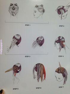 Balayage, Hair color techniques and Balayage technique At Home Hair Color, Hair Color Dark, Ombre Hair Color, Cool Hair Color, Hair Cutting Techniques, Hair Color Techniques, Colouring Techniques, Painting Techniques, Hair Color Placement