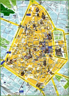 Tourist map of Viareggio city centre Maps Pinterest Tourist