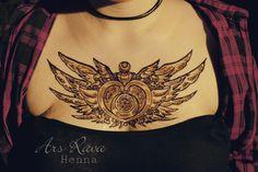 Sailor Moon fan Henna tattoo art by Annabell Radisch from Ars Rava (Dresden / Sachsen) www.ars-rava.de