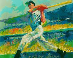 LeRoy Neiman Joe DiMaggio Baseball Art HD Print canvas Picture wall decor 24x30/""