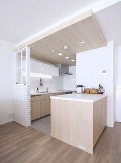 Home Decored Apartment Kitchen Design New Ideas Apartment Kitchen, Apartment Design, Kitchen Interior, Kitchen Decor, Industrial Style Kitchen, Modern Kitchen Design, Cuisine Chabert Duval, Muji Home, Cocinas Kitchen