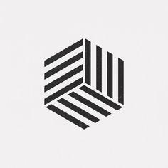 A new geometric and minimal design every day. Geometric Shapes Art, Geometric Logo, Geometric Patterns, Geometric Designs, Op Art, Logo Abstrait, Motif Hexagonal, Drawing, Geometry Art