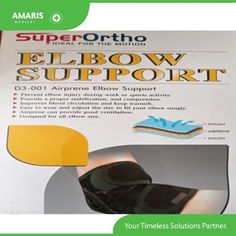 Super Ortho Airprene Elbow Backing D3-001 Features Forestall elbow injury during work or sports action Give an appropriate adjustment, and pressure Improves blood flow and keep warmth Simple to wear and change the size to accommodate your elbow cosily. Airprene can give great ventilation Intended for all elbow size Contact us +254700004255 Elbow Support, Flow, Action, Medical, Change, Simple, Fitness, Sports, How To Wear