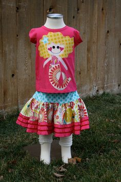Sanjay the Sassy  Mermaid Shirt and Skirt Set by sherunslikeagirl, $57.00