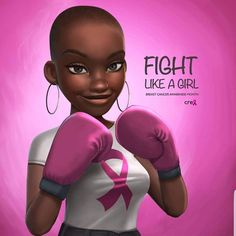 After skin cancer breast cancer is the second commonly diagnosed cancer in women in the US. One in eight women will develop breast cancer, according to the Black Love Art, Black Girl Art, Black Girls, Black Women, Style Afro, Good Morning People, Art Et Design, Black Girl Cartoon, Natural Hair Art