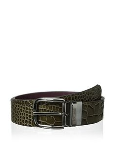64% OFF Just Cavalli Men's Reversible Croc Belt (Military Green)