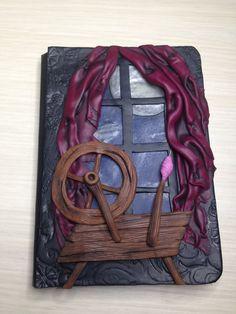 """Polymer Clay Journal, """"Creepy Tales"""" collection, Quaderno di pasta polimerica, Sleeping Beauty, La bella addormentata nel bosco di AllecramArt su Etsy"""