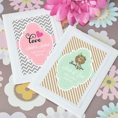 Event Blossom has Spring Themed Favors like eco-friendly personalized seed packets! #wedding #shower