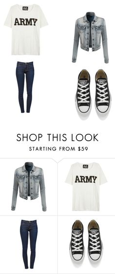 """""""Untitled #144"""" by chantelb233 on Polyvore featuring LE3NO, NLST, Frame Denim and Converse"""