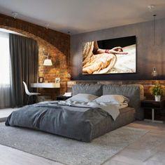 Splendid Modern Master Bedroom Ideas ~ Home Creative Modern Master Bedroom, Bedroom Bed Design, Modern Bedroom Decor, Home Room Design, Minimalist Bedroom, Contemporary Bedroom, Home Bedroom, House Design, Bedroom Furniture Inspiration
