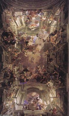 """cristianocattolico1: """" Ceiling by Andrea Pozzo (S. Ignazio, Rome, 1691-94). """""""