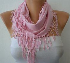 Pink Scarf   #scarves