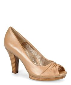 Another great find on #zulily! Almond Tan Madeline Leather Pump #zulilyfinds