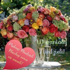 Kartka pod tytułem 💗Pięknej Niedzieli! Floral Wreath, Make Up, Wreaths, Table Decorations, Beautiful, Laura Geller, Eyeliner, Sunday, Motivation