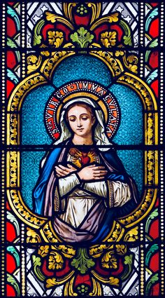 Must go to France and see this window in person. Stained Glass Church, Stained Glass Art, Stained Glass Windows, Catholic Art, Religious Art, Roman Catholic, Queen Of Heaven, Blessed Mother Mary, Holy Mary