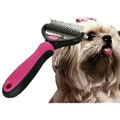 UHeng Pet Dog Cat Dematting Comb Professional Dual Side Grooming Rake >>> To view further for this item, visit the image link. (This is an affiliate link) #Cats