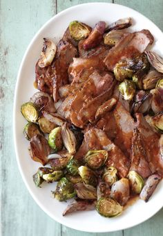Tri-Tip Roast with Brussels Sprouts and Shallots. Instead of the soy sauce, use Coconut Aminos.