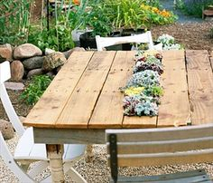 Pallet Garden Table Offer Countless Purposes