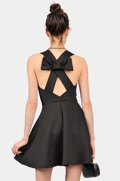Bow back LBD -- It's only $28!!! Yep I'm getting it. I love it when I can dress like Pinterest!!!!