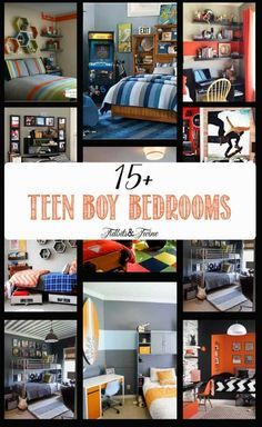 A look at tween/teen boy bedroom ideas that are stylish and functional! A place to study, a place to play, and a place to hang out!