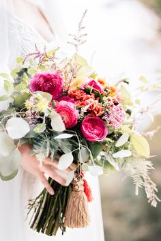 Bohemian Inspired Wedding Flowers