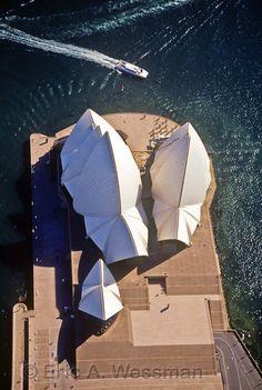 Aerial view over Sydney Opera House. Sydney, Australia.