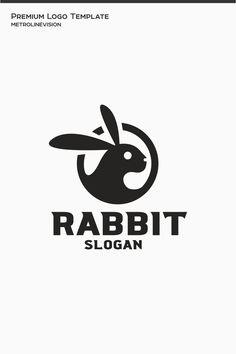 Rabbit Logo Template, #Affiliate #Rabbit #Logo #Template Brand Identity Design, Branding Design, Logo Design, Corporate Branding, Pet Logo, Brand Character, Character Design, Logo Rabbit, Monogram Logo