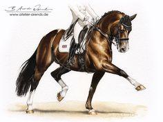 Dressage Horse Valegro KWPN by AtelierArends.deviantart.com on @DeviantArt