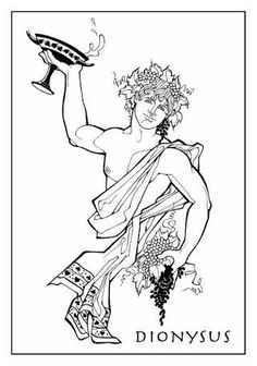Greek God of Wine, Dionysus, Dionysos, Bacchus Clipart