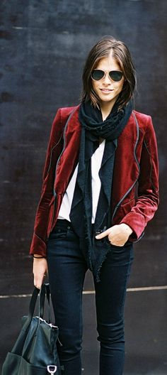 Very cool jacket and scarf...