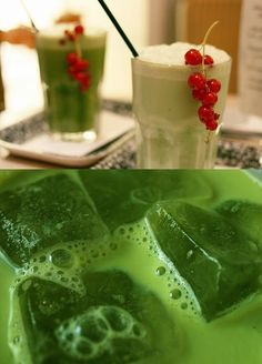 DIY Recipe | Iced GREEN Tea Lattes (Sugar-Free) ~ How to Make Your Drinks at Home :: Wouldn't it be great to enjoy hot or iced green tea lattes more frequently? ... #healthy #beverages