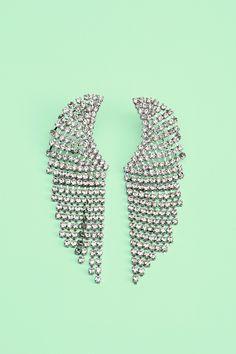 Crystal Wing Earrings