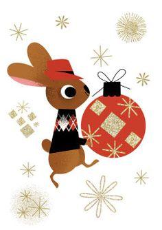 Roger la Borde | Festive Bunny Christmas Greeting Card by Daniel Roode